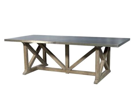 rustic industrial table l industrial rustic metal top dining table for sale at 1stdibs