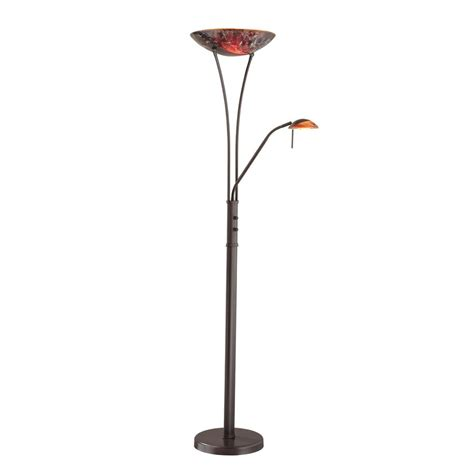 shop kendal lighting 71 in oil rubbed bronze torchiere