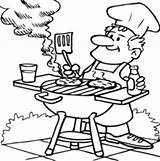 Coloring Pages Dad Bar Barbecuing Bbq Printable Drawing Cooking Food Man Digital Timtim Grill Stamps Drawings Cool Father Summer Tt sketch template