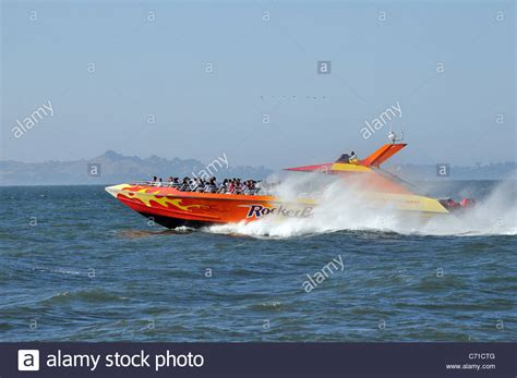 Water Boat by The Water Jet Boat Quot Bay Rocket Quot Carrying Tourists On A