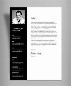 Cv Letter Template Classy Black White Resume Cv Template With Cover