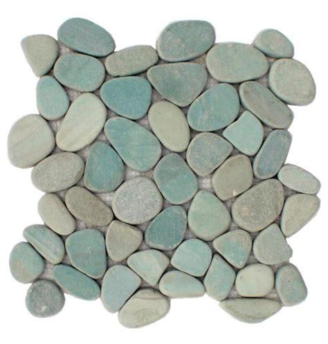 sliced pebble mosaic tile sliced aqua pebble tile 9 ea at cascadestoneworks com bathroom pinterest beautiful