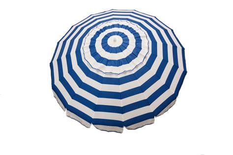 8 royal blue and white stripe deluxe patio umbrella