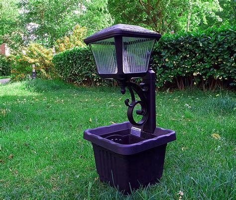 solar light outdoor solar garden lights plastic flower