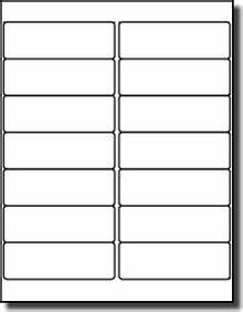 Avery Label Template 5162 1 400 White 4 X 1 33 Inkjet And Laser Printer Labels Use