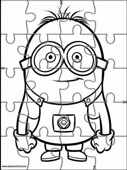 Puzzles Minions Colorear Printable Puzzle Imprimir Rompecabezas
