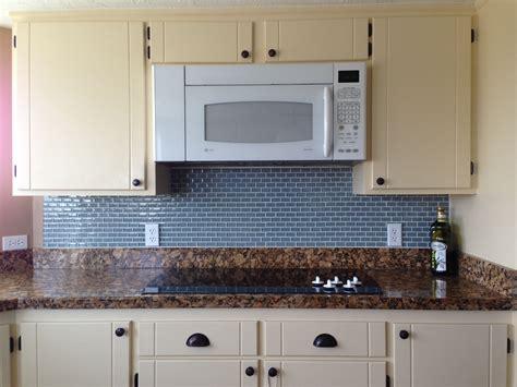 Gray Color Diy Glass Subway Tile Kitchen Backsplash For