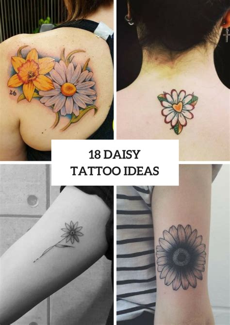 amazing daisy tattoo ideas  women styleoholic