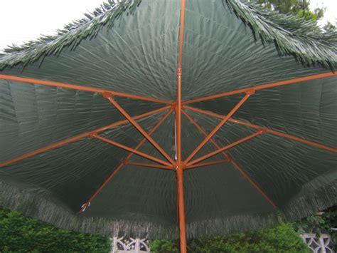 9 ft tiki patio umbrella with crank lift green new ebay