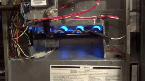 furnace cycling    flame sensor cleaning