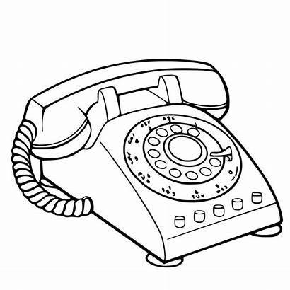 Phone Telephone Svg Drawing Clipart Rotary Call