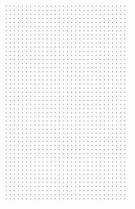 Dot Paper With Three Dots Per Inch On Ledger