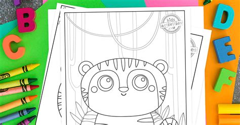 adorable  baby tiger coloring pages