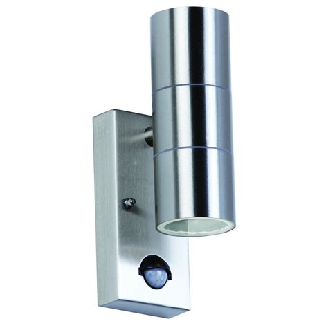 endon el 40062 garden wall light pir sensor steel wall