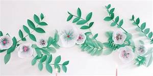 Faire Une Guirlande En Papier : faire une guirlande de fleurs en papier marie claire ~ Melissatoandfro.com Idées de Décoration