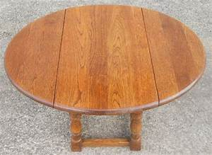 sold antique jacobean style light oak wood oval dropleaf With light wood oval coffee table