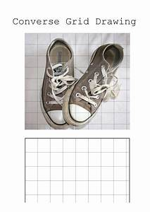 Converse Shoe Grid Drawing  Cover Sub Lesson  By