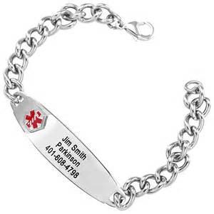Stainless Steel Medical Alert Bracelets