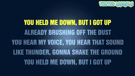 Roar Katy Perry Lyrics Karaoke
