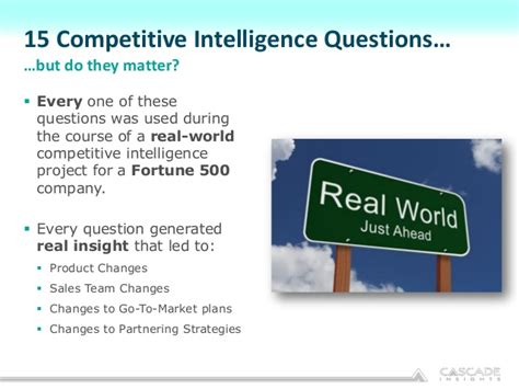 Audit Manager Questions by 15 Competitive Intelligence Questions Every Product