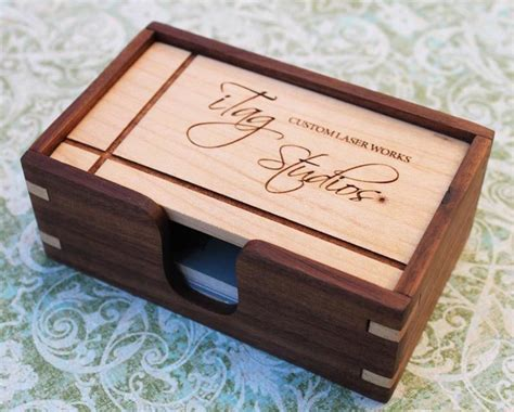 Create a card online that's as unique as your company. Wooden Business Card Holder   Gadgetsin