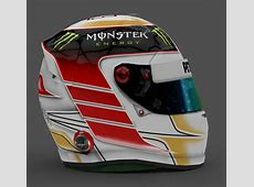 Lewis Hamilton Driver Helmet 2014 by NickRay F1Simgames