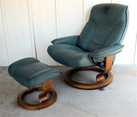 ekornes stressless recliner large chair ottoman leather