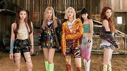 Itzy Pop Members Kpop Wallpapers Shy Background