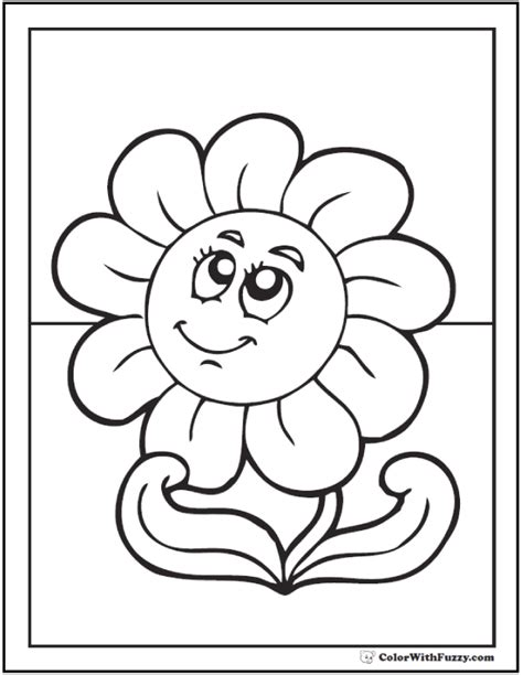 daisy coloring pages  customizable pdfs