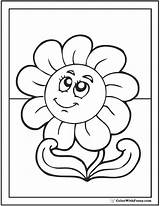 Daisy Coloring Pages Printable Flower Face Colorwithfuzzy sketch template
