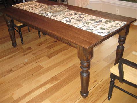 turned leg farmhouse table ana white turned leg farmhouse table by craig martinson