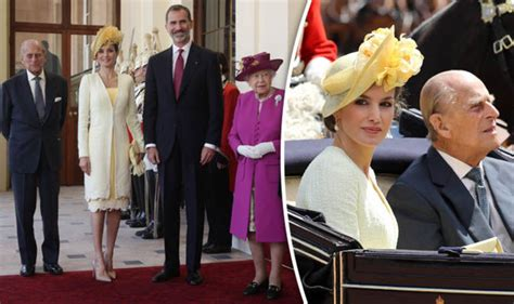 King Of Spain Welcomed By Queen Prince Philip On Royal Uk