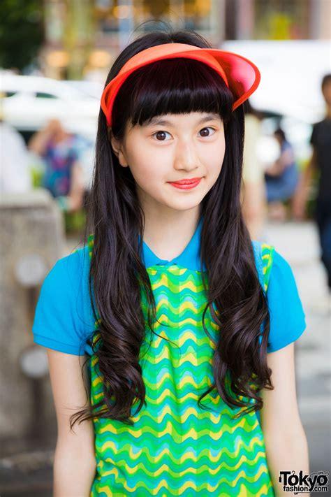 harajuku actress colorful sporty chic fashion  ralph lauren   mart converse tokyo
