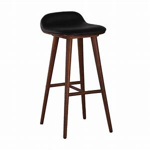 About A Stool : life interiors capa leather bar stool walnut black modern bar stools for your kitchen ~ Buech-reservation.com Haus und Dekorationen