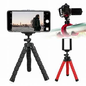 EEEKit Portable Phone Tripod, Flexible Cell Phone Tripod Stand with Ball-Head 360, Compatible ...