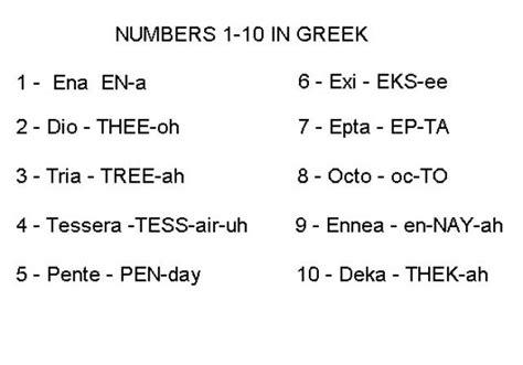 How To Count To Ten In Greek  Greek Stuff  Counting, Greek, Learn Greek