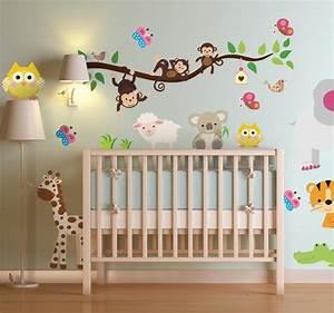 Wandtattoo Kinderzimmer Dschungel : wandtattoo dschungel tenstickers ~ Orissabook.com Haus und Dekorationen