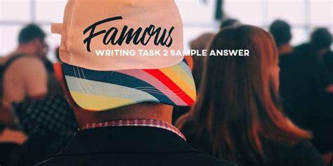 ielts writing task  sample answer general training fame real  ielts testexam