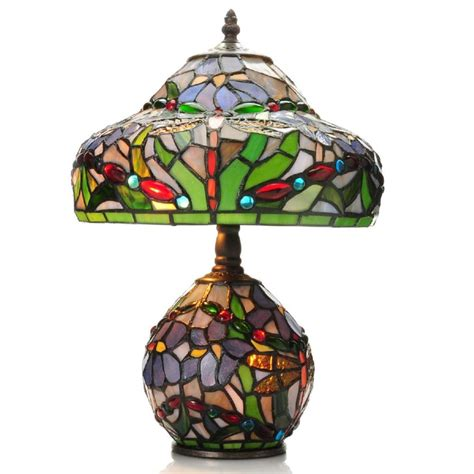 double lit tiffany style ls tiffany style 15 5 inch dragonfly double lit stained glass