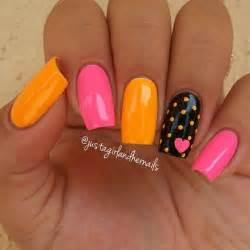 Best orange nail art ideas on