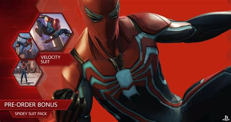 Final Pre-order Bonus For Spider-man Ps4 Is The Velocity Suit