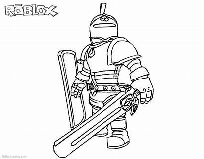 Roblox Coloring Pages Characters Knight Printable Roblo