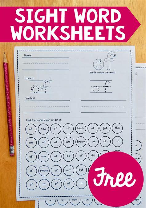 sight word worksheets  measured mom