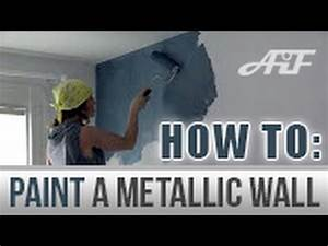 How To Paint a Metallic Wall Blank Canvas metallic