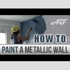 Howto Paint A Metallic Wall Blank Canvas #metallic