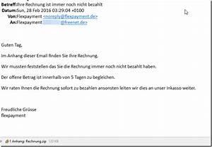Rechnung Rechtsanwalt Nicht Bezahlen : trojaner warnung ihre rechnung ist immer noch nicht ~ Themetempest.com Abrechnung