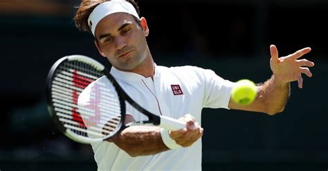 roger federer sheds nike swoosh for uniqlo then wins match the new york times