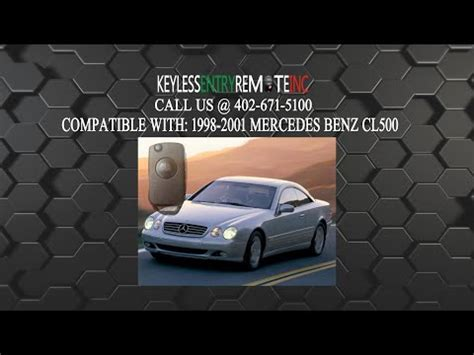 Mercedes benz smart key battery tutorial. How To Replace A Mercedes Benz CL500 Key Fob Remote Battery 1998, 1999, 2000, and 2001 - Key Fob ...