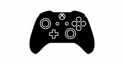 Xbox Controller Transparent Clipart Silhouette Control Icons