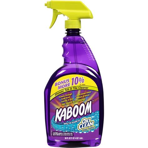 kaboom bathroom cleaner with kaboom shower tub tile cleaner from smart